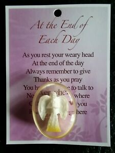 Guardian Angel Worry Comfort Pocket Stone - At The End of Each Day