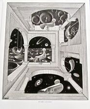 M C Escher Another World II Poster Reprint of Space View Offset Lithograph 14x11