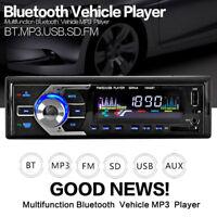 Car Stereo Bluetooth Handsfree Radio 1DIN SD/USB/AUX/FM Head Unit MP3 Player 12V