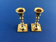 """Candle holders, solid brass, 4.5"""", set of two"""