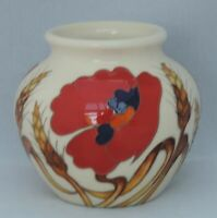Moorcroft Harvest Poppy  Vase - shape 55/3 - dated 2009 - 8cm tall