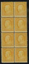 US, #510 10Cents Orange Block of 8 Mint Never Hinged