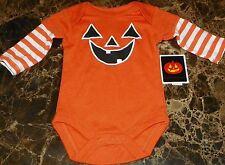"""NEW"" Pumpkin HALLOWEEN ~ Infant CREEPER BODYSUIT ~ Sz NB Costume LONG SLEEVE"