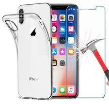 Effacer Housse Gel et protection d'écran verre trempé pour Apple iPhone X, 10
