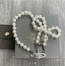 vivienne westwood Pearl Necklace  relief Choker Necklace Gold  Present