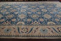Light Blue All-Over Floral Palace Oriental Rug Hand-Knotted WOOL Carpet 13x20