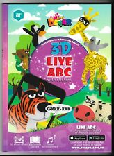 3D Live ABC Book in Augmented Realit With stickers. By Devar Kids. Alphabet.