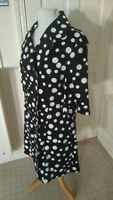 SMART POLKA DOT FITTED EXPENSIVE LOOK MAC SIZE 14/16 UK
