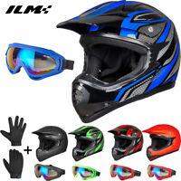 DOT Youth Motorcycle Helmet MTB Motocross Dirt Bike Downhill Off-Road Kids Gifts