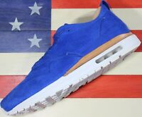 Nike Air Max 1 Game Royal Blue Suede Leather WMNS 11.5 Running Shoe [847672-400]