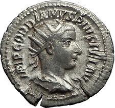 GORDIAN III 239AD Rome Authentic Genuine Ancient Silver Roman Coin ROMA i59077