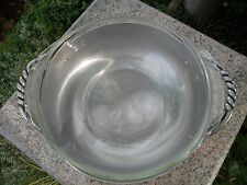 Vintage Hand Wrought B W Buenilum Hammered Aluminum Serving Bowl w/ Pyrex Insert