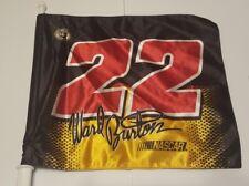 NASCAR WARD BURTON #22 CAT RACING Car Flag window