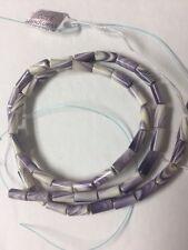 Authentic Wampum Beads, approx 4mm X 8mm tubes. Quahog Shell. 1 Strand