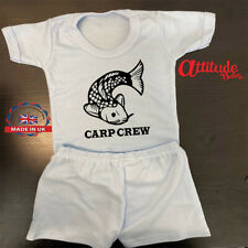 Carp Crew Baby T Shirt & Shorts Set-Fishing Baby T Shirt-Plain-Printed-Carp Crew