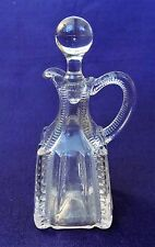 VINTAGE EAPG CRUET STOPPER GLASS SQUARE ZIPPER