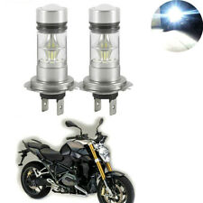 2x H7 100W 6000K White LED Headlight Bulbs For BMW R1200GS RT 2004-2015 12-24V