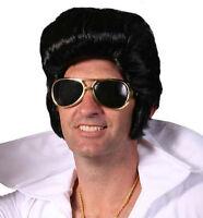 Elvis Rock N Roll Costume Wig 60's Male Fancy Dress