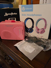 [2 pk] iClever Kids Headphones with Microphone also ByronStatics cassette player