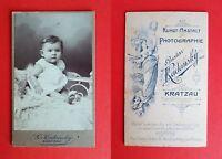 CdV Foto KRATZAU in Böhmen um 1900 kleines Kind Baby    ( F16673