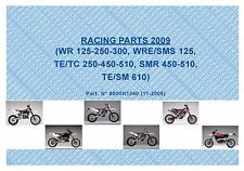 Husqvarna Racing Parts Manual Book 2009 TC 250, TC 450 & TC 510