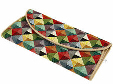 Signare Ladies Woven Tapestry Purse Wallet For Banknotes Cards Coins - Triangle