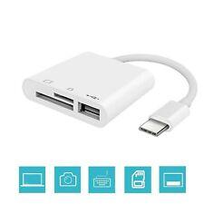 USB C 3 in 1 Hub Converter, Multi Port Adapter SD Card Reader Adapter with Da...