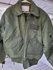 AWESOME VINTAGE USAF MITCHELL PROFFITT GREEN FLIGHT Bomber JACKET Large Army