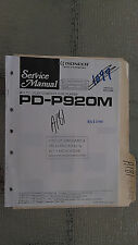Pioneer pd-p920m service manual original repair book stereo cd player
