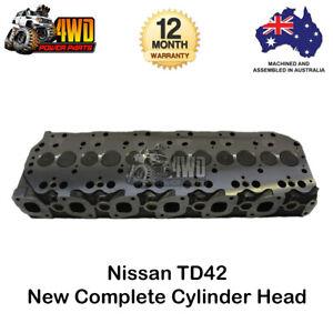 Complete Cylinder Head for Nissan Patrol GQ GU TD42 6 Cyl 12V Diesel 1988 - 2006