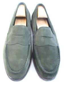 """NEW Allen Edmonds """"Mercer Street"""" Loafers 9 (L) & 9.5 (R) EEE Olive Suede (316)"""