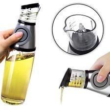 Dispenser Dosatore Olio Aceto 500ml Misuratore Misurino a Pressione in Vetro