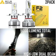 Alla Lighting H4 9003 LED Headlight Bulb Lamp High Low Dual Beam 6000K White,2pc