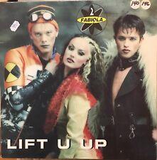 "2 FABIOLA Lift U Up 12"" Single VG+ Vinyl 1996 Spain Import Eurodance Trance"