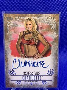 2016 Topps WWE Undisputed Autographs 63/99 Charlotte #UA-CH Auto 💎💎💎