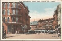 Chatham, Ontario - CANADA - King West Street - Garner Hotel - 1925 - old cars