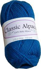 Classic Alpaca 100% Baby Alpaca Yarn #1628 Ocean Blue 50g/110 yds DK Peruvian