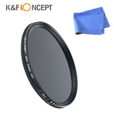 K&F Concept Filter Neutral Density ND 2-400 77mm fader Sony Nikon Canon DSLR