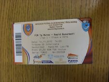 14/11/2010 Ticket: FCM TG Mures v Rapid Bucuresti. Any faults with this item hav