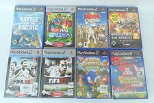 PS2 PS 2 Playstation 2 - 8 Games, Sammlung, Posten, Bundle NEU