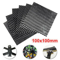 100x100x(0.5-5)mm Black Carbon Fiber Plate Panel Sheet Board Twill Weave