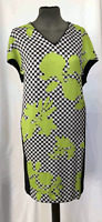 John Lewis Damsel in a Dress Green Block Floral Shift Dress Size 12