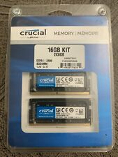 Crucial 16GB KIT 2 x 8GB DDR4 2400 MHz PC4-19200 SODIMM 260-Pin Laptop Memory