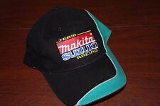 Makita Team Suzuki Racing Ball Cap, MotoCross, Motorcycle Racing, New Black Teal