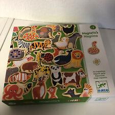 Djeco - Magnetspiel Magnimo aus Holz mit Tieren - 42 Tier-Magnete - ab 2 Jahren