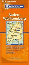 Michelin Map of Baden-Wurttemberg, Michelin Map #545, German Edition