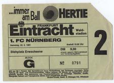 TICKET : Eintracht Frankfurt v FC Nurnberg 1981 1981/82 German League