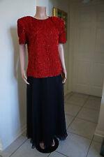 Women's Chiffon Black Skirt    Size 8      80's    NWT     MINT