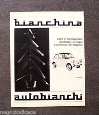O427 - Advertising Pubblicità -1963- AUTOBIANCHI BIANCHINA , GOMME PIRELLI