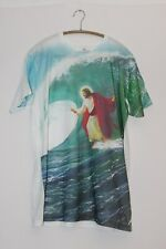 Mens goodie two sleeves jesus t-shirt size large